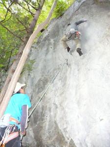 11.30小岐須 椿岩クライミング