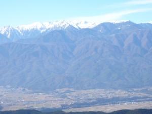 2016,01,03高烏谷山頂から中央ア伊那谷