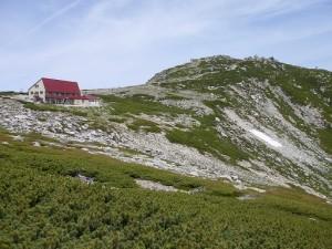 ②天狗荘と中岳