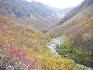 10月涸沢から本谷方面