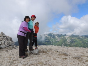 2015,08,23 烏帽子岳から野口五郎岳 熊谷