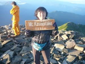 8月笠ヶ岳山頂